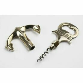 Nauticalia Brass Anchor Bottle Opener & Corkscrew