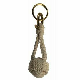 Monkey Fist Rope Knot Keyring
