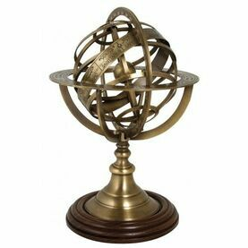 Nauticalia Antique Brass Armillary Sphere - 30cm