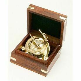 "3.5"" Brass Sundial in Box"
