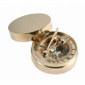 Nauticalia Brass Pocket Sundial & Compass