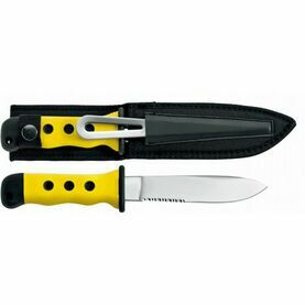Meridian Zero Sheath Knife with Shackle Key/Spike - Yellow