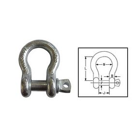 Galvanised Tested Bow Shackle - 3.25 tons 18mm