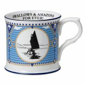 Swallows and Amazons Fine Bone China Mug - Beaker With Dinghy