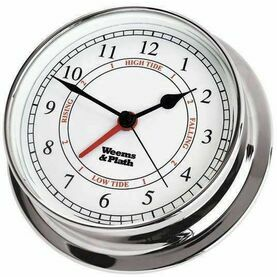 Weems & Plath Endurance 125 Time & Tide Clock (Available in Chrome or Brass)