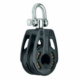 Harken 100 mm Aluminum Double Block Swivel