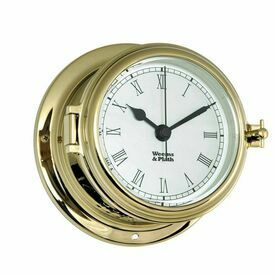 Weems & Plath Endurance II 115 Quartz Clock with Roman Numerals (Brass)