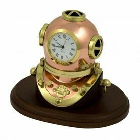Nauticalia Diving Helmet Clock on Plinth