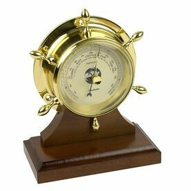 Brass Neptune Barometer with Plinth