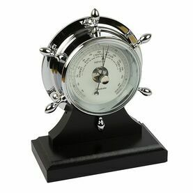 Nauticalia Chrome Neptune Barometer with plinth