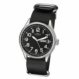 Limit Pilot Watch - Black/Black (Nylon Strap)