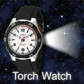 Limit Men's Torch Sports Watch - Black/White