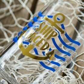 Nauticalia Glass Tankard - ''Ship Faced''