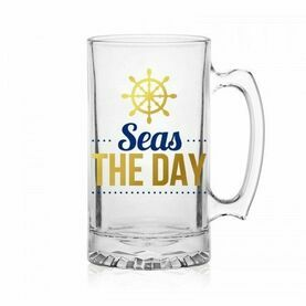 Nauticalia Glass Tankard - ''Seas the Day''