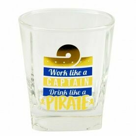 Nauticalia Glass Tumbler - \'\'Work like a Captain\'\'
