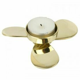 Nauticalia Propeller Tealight Holder - Brass