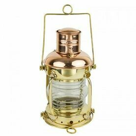 Nauticalia Brass & Copper Anchor Lamp - Oil