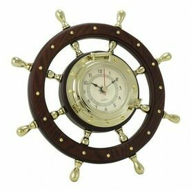 Nauticalia Ship\'s Wheel Clock