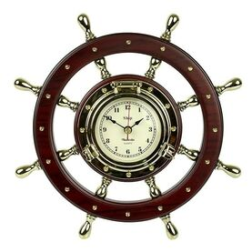 Nauticalia Ship's Wheel Clock
