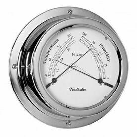 Nauticalia Fitzroy Thermometer/Hygrometer (QuickFix) Chrome