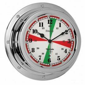 Nauticalia Fitzroy Radio Silence Clock (QuickFix) Chrome