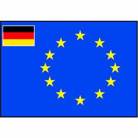Talamex European Flag With Small Germany Flag (50cm x 75cm)