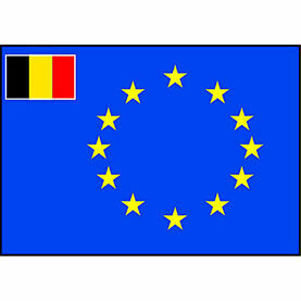 Talamex European Flag With Small Belgian Flag (70cm x 100cm)