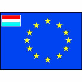 Talamex European Flag With Small Dutch Flag (40cm x 60cm)