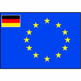 Talamex European Flag With Small Germany Flag (60cm x 90cm)
