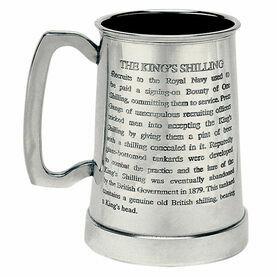 Nauticalia King's Shilling Engravable Tankard - 1 Pint