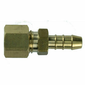 Talamex Straight Joint Brass 8mm Compr. x 8mm Hose Connection