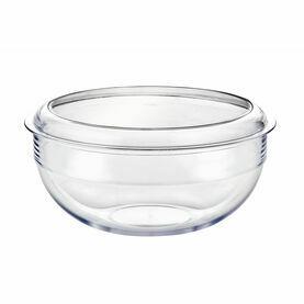 Palm Large Clear Salad Bowl & Lid - Tritan