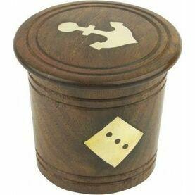 Nauticalia Wooden Dice Shaker & Dice - 7cm