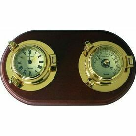 Nauticalia Brass Cockpit Clock/Barometer Set