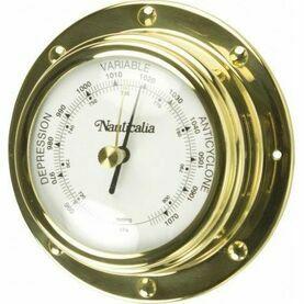 Nauticalia Classic Brass Barometer (Rivet-Style) - 10cm