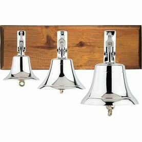 Nauticalia Chrome-Plated Ship's Bell (Various Sizes)