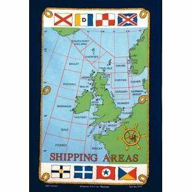 Nauticalia Galley Dish Cloth - Shipping Areas