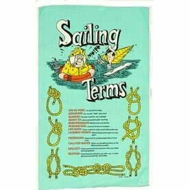 Nauticalia Galley Tea Towel - Sailing