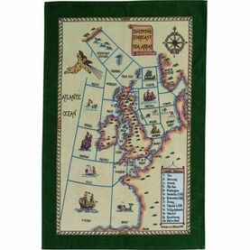 Nauticalia Galley Dish Cloth - Shipping Areas 2