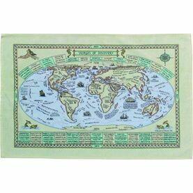 Nauticalia Galley Dish Cloth - World Map