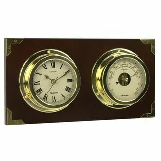 Nauticalia Captain Clock and Barometer Set