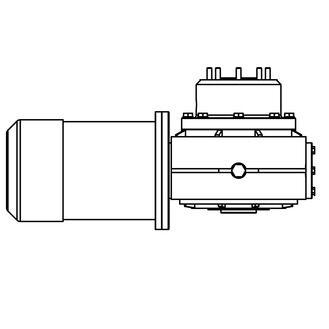 Lewmar V4/5 C4/5 Hydraulic Motor Gearbox