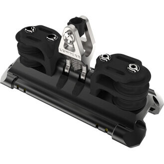 Lewmar Size 1 TB Car With Upstand & 2 Double CL Sheaves