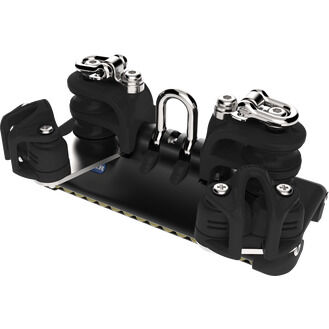 Lewmar Size 1 HTX TB Car With Shackle, Double Control Sheaves, Becket & Cleat