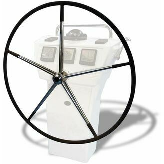 """Lewmar 52"""" Mini Maxi Wheel, 10 Spoke with Hide Cover and Spats."""