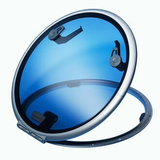 Lewmar Size 22 Low Profile Round Hatch Self Supporting