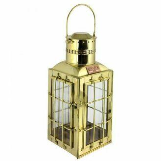 Chief Cargo Oil Lamp - Brass - 38cm
