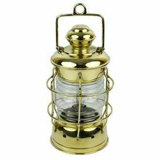 Brass Nelson Electric Lamp - 33cm