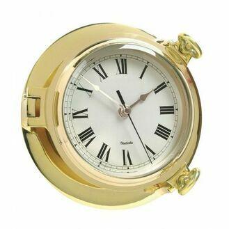 Brass Bridge Clock - 18cm