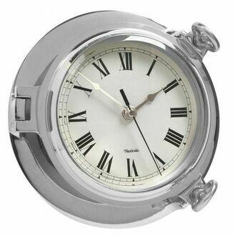 Chrome Bridge Clock - 18cm